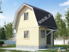 Одноэтажный жилой дом с цокольным этажом и мансардой